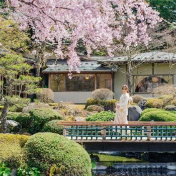 極上の日本庭園にて